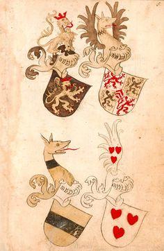 Bruderschaftsbuch des jülich-bergischen Hubertusordens - BSB Cod.icon. 318, [S.l.] Niederrhein, [um 1500] Folio: 5r