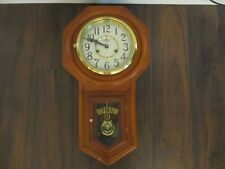 D A Regulator Pendulum Wall Clock Wood Wind Up Chime Clock Wall