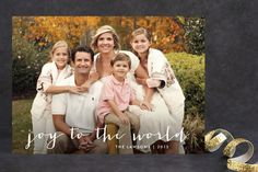 Simple Joy Holiday Photo Cards by Fig and Cotton Paperie at minted.com