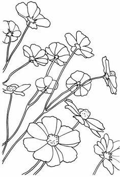 Рисунки цветов для росписи | БАТИК и Я