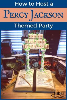 When my daughter requested a Percy Jackson themed party for her birthday the homeschool mom in me got a little giddy about combining a birthday party with awesome literature! Percy Jackson Party, Percy Jackson Birthday, Percy Jackson Fandom, 11th Birthday, Birthday Party Themes, Girl Birthday, Birthday Ideas, Birthday Decorations, Party Activities