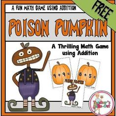 Freebie! Poison Pumpkin is a fun addition game using facts 2-9 with sums to 18…