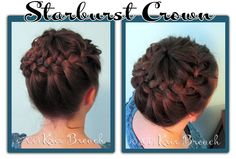 Elegant Hairstyles for Long Hair  - The Starburst Crown is easier than it looks and is beautiful!