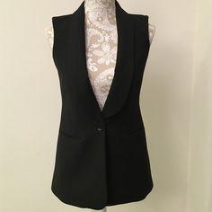 Black BCBG Maxazria Vest Cute black vest size xxs from BCBG Maxazria. It opens up in the back. BCBGMaxAzria Jackets & Coats Vests