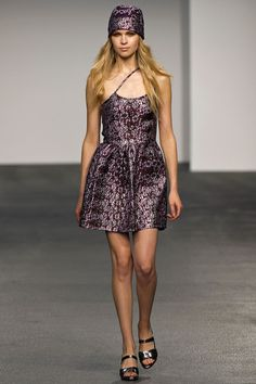 House of Holland. Spring 2013 Ready to Wear. Bohemian with a touch of sparkle. I would covet this dress.