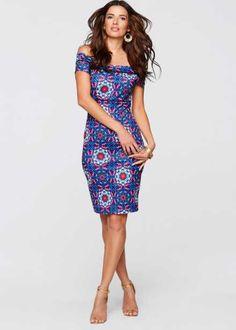 Платье из плотного трикотажа, BODYFLIRT boutique, синий