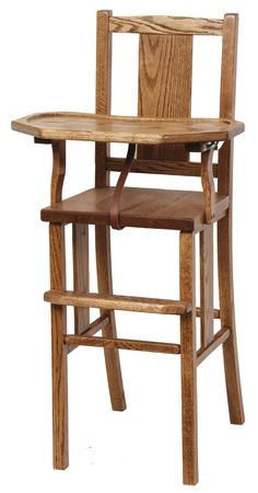 The Amish Baywood High Chair with Slide Tray is a solid wood high chair built to be passed down from one generation to the next.
