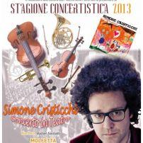 Simone Cristicchi a Miragica con l'orchestra sinfonica della provincia di Bari.