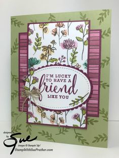 Stampin' Up! Lucky Friend for the Happy Inkin' Thursday Blog Hop | Stamp With Sue Prather