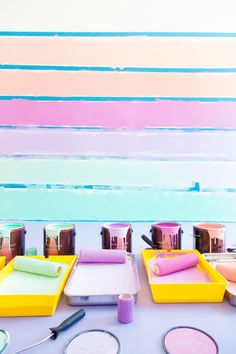 DIY Colorful Ombre Wall