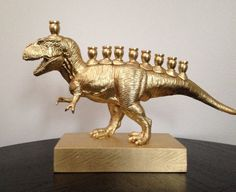 not even Jewish but i need this Perhaps you need a Menorasaurus Rex! | Stop What You're Doing And Look At This Amazing Dinosaur Menorah