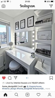 Cute Bedroom Decor, Room Design Bedroom, Bedroom Decor For Teen Girls, Stylish Bedroom, Room Ideas Bedroom, Dressing Room Decor, Beauty Room Decor, Aesthetic Room Decor, Dream Rooms