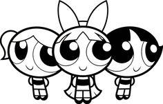 Powerpuff girls SVG file.