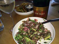 Quinoa, avocado, radish and cashew salad from http://www.bocadoatlanta.com/ Um...WOW.
