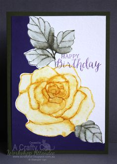 Water colouring, and what better set to do this with than the beautiful Rose from Stampin' Up! Today's post features creations by myself and...