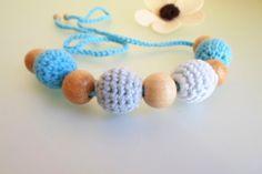 Teething / Nursing necklace Crochet nursing by ATLASKNITSHOP, $14.00