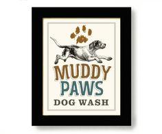 Laundry Room Decor Dog Art Bathroom Art Dog Paw Print Washing Machine Hunting Dog Wall Art Cabin Decor by DexMex on Etsy https://www.etsy.com/listing/224919037/laundry-room-decor-dog-art-bathroom-art