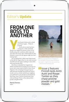 Snow Travel Free Tablet Magazine. More on www.magpla.net MagPlanet #TabletMagazine #DigitalMag