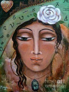 Esmeralda - a healer, a visionary, a wise woman by Canadian artist Maya Telford (North Vancouver, BC - Canada)