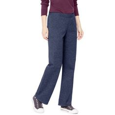 Hanes Women's Essential Fleece Sweatpant available in Regular and Petite, Size: XL Petite, Blue