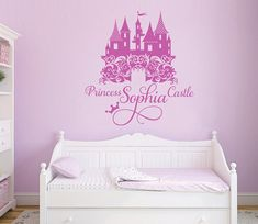 Princess Castle Personalized Name Decal, Nursery, Girlu0027s Room Decal, Damask Castle  Wall Sticker Part 96