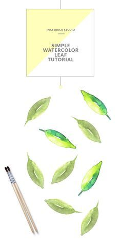 Learn how to paint a simple leaf in watercolors in this tutorial by Zakkiya… Watercolor Art Diy, Watercolor Feather, Watercolour Tutorials, Watercolor Techniques, Painting Techniques, Watercolor Paintings, Watercolors, Simple Watercolor Flowers, Painting Lessons