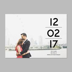 Modern save the date with photo DP201