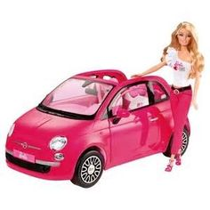 """Barbie Doll with Fiat Convertible Car - Mattel - Toys""""R""""Us Mattel Barbie, Barbie Bebe, Barbie Cars, Toys R Us, Kids Toys, Barbie Website, Barbie Playsets, Barbie Doll Accessories, Fiat Accessories"""