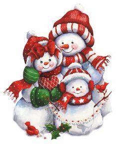 Snowmen family tag