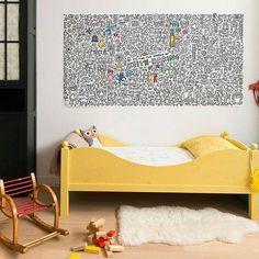 P L A Y ☆ One of the coolest birthday present ideas! The GIANT colouring poster from Omy is only $53.95 - perfect to display on the wall after hours of fun colouring. Shop now via link in bio!