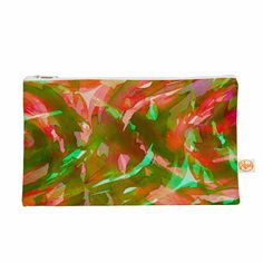 "Ebi Emporium ""Motley Flow 3"" Green Red Everything Bag"