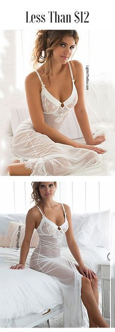 Sexy white lace sleeping gown to sleep like a Queen. Like it? Click on the picture to shop it at just $11.39.