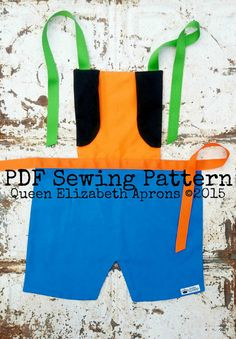 Queen Elizabeth Aprons copyright© 2015 and beyond. This pattern is for personal use only. Finished product may not be used for Retail or Commercial use or resale. Written in US measurements. English language only.  This listing is for a Sewing Pattern to make your own Goofy the Dog Child Apron. A PDF file will be available for download immediately after purchase. You can easily print it out from your computer. Purchase the finished apron here…