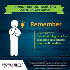 #ProTip: Having a difficult workplace conversation today?  #businesssimulations ...