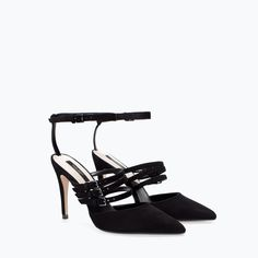Image 2 of LEATHER COURT SHOE WITH STRAPS from Zara