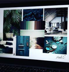 #moodboard #green #tropical #shades #Mac #interior