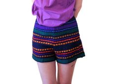 Rainbow Dream 60s Shorts S Woven Shorts Hippie by MorningGlorious