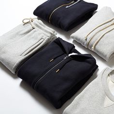 Try finer fabrications. New hoodies and sweats in Heavy French Terry.