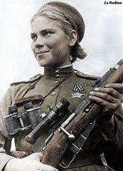 Roza shanina 1944 Soviet sniper in color