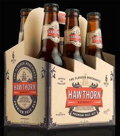 Hawthorn Brewing Co. / Hawthorn Brewing Co. Beverage Packaging, Bottle Packaging, Beer Brands, 6 Pack, Bottle Carrier, Co Working, Beer Gifts, Brewing Co, Craft Beer