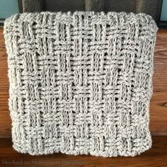 Need to cozy up with something snuggly? This blanket works up surprisingly quick and you'll be warm and toasty in no time! I am loving the texture of the basketweave stitch paired with this yarn. They go together perfectly! With a simple 5 row repeat, this basketweave stitch in easy to create and turns out …