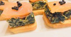 Fabulosa receta para Canapés de espinacas y salmón. cuinadelamare.com