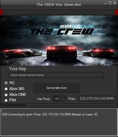 The Crew Serial Key Generator The Crew Serial Key Generator (PC,Xbox 360, ONE & PS4) http://www.hacksbook.com/the-crew-serial-key-generator-codes