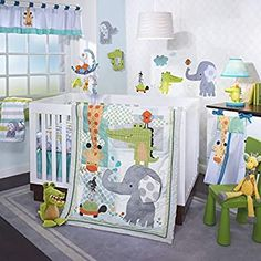 Add adorable animal style to your little one's nursery with this Lambs & Ivy Two of a Kind crib bedding set. Baby Boy Crib Bedding, Baby Boy Cribs, Nursery Crib, Blue Bedding, Baby Boy Rooms, Nursery Decor, Nursery Ideas, Nursery Themes, Bedroom Ideas