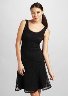 Kay Unger - Textured Fit and Flare Dress