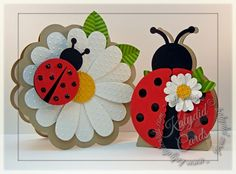 A Bug Outside Blog Hop-Ladybug Birthday Cute card for a little lady bug in your life.