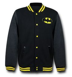 Ah, yes, college...and at Batman University never the less! I'm sure you reflect back on your college years with the fine 60% cotton 40% polyester Batman Symbol Letterman Jacket. All of those extra classes on proper Batarang use, or how to manipulate the shadows, or all of those 4 day keggers involving the Scarecrow fear gas. Hey, Morgan Freeman gave him razz about the weaponized hallucinogens once before! You didn't mess around with that though...you just love the Batman Symbol Letterman…