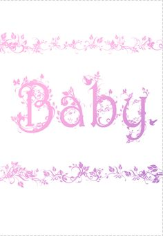 Free Printable Decorated Baby Card Greeting Card