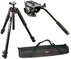 Introducing Manfrotto MT055XPRO3  MVH500AH Professional Video Tripod Kit and a 35 Padded Case. Great product and follow us for more updates!