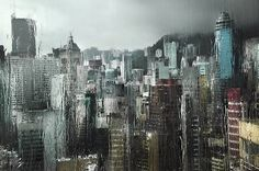 Hong Kong sous la pluie